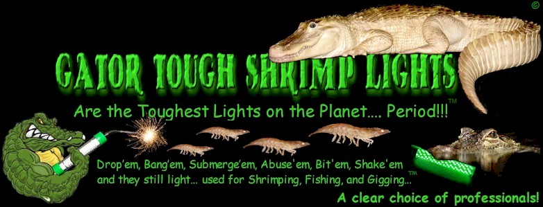 gator-tough™ led underwater shrimping, fishing & gigging lights, Reel Combo